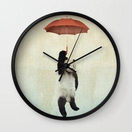 Pandachute Wall Clock