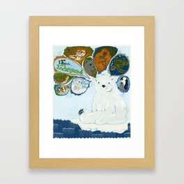 Spokesbear.  Framed Art Print