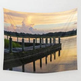 Sunset at the Denbigh Boat Ramp II Wall Tapestry