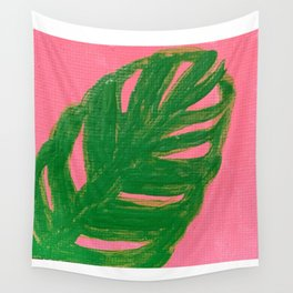 Monstera leaf plant Wall Tapestry