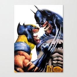 Wolvie and Bat Canvas Print
