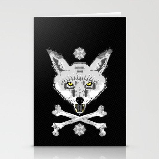 Silver Fox Geometric Stationery Cards