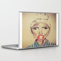 bubblegum Laptop & iPad Skins featuring Bubblegum by Charlotte Chisnall