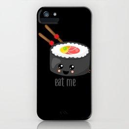 Eat Me in black iPhone Case