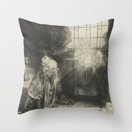 Faust in his Study Throw Pillow
