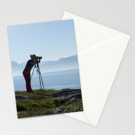 Photograph in Norway in moring Stationery Cards