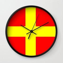 flag of Messina Wall Clock