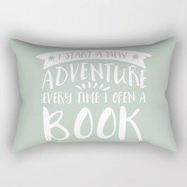 I Start a New Adventure Every Time I Open A Book (V3) Rectangular Pillow