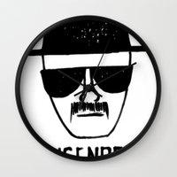 breaking Wall Clocks featuring Heisenberg - Breaking Bad Sketch by Bright Enough💡