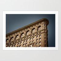 Flat Iron Building, Manhattan, New York City Art Print