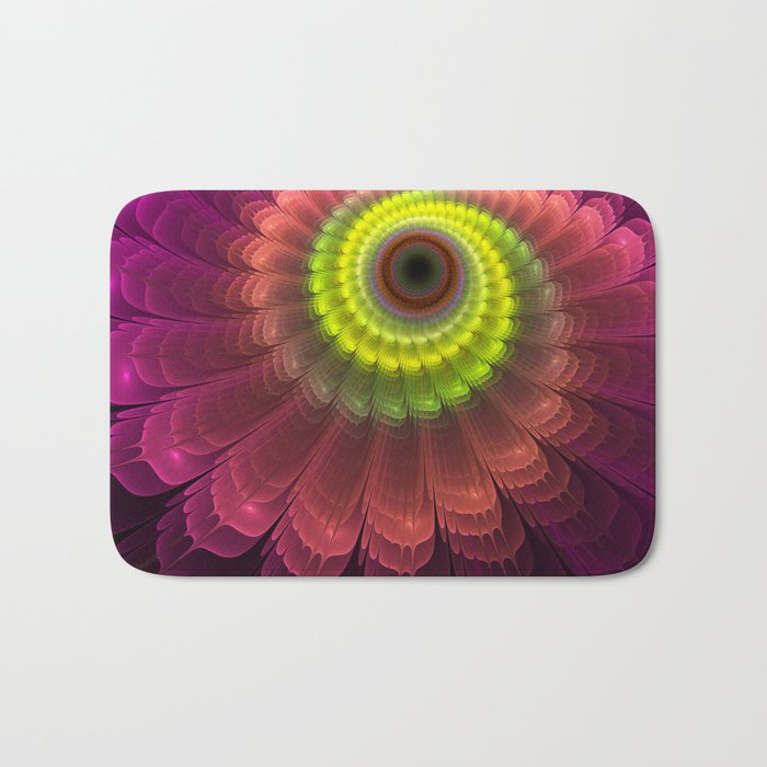 Curling up fantasy flower Bath Mat