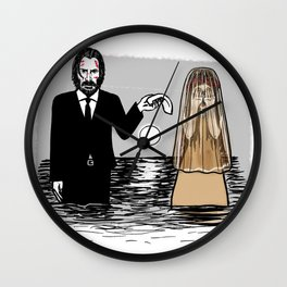 John Wick meets La Llorona Wall Clock
