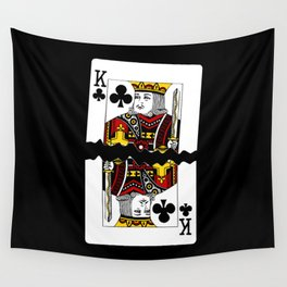 Torn Playing Card Wall Tapestry