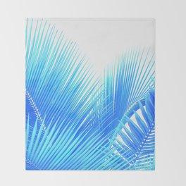 Winter Palm Throw Blanket