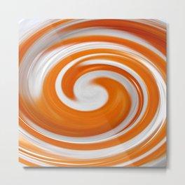 Lollipop Swirls - Orange Metal Print