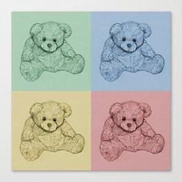 Worhol Style Teddy Bears Canvas Print