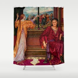 "Evelyn De Morgan ""The Gilded Cage"" Shower Curtain"