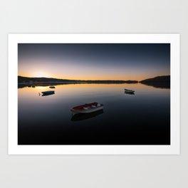 Sunrise over Knysna Lagoon in Western Cape, South Africa Art Print