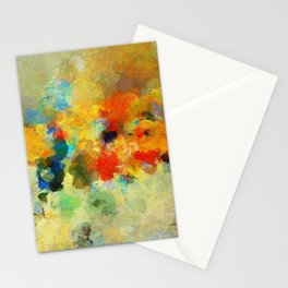 Abstract Colorful Landscape Painting Stationery Cards