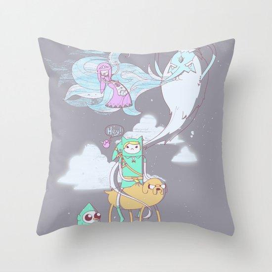 A Finn to the Future Throw Pillow