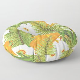 Summer Narcissus Floor Pillow