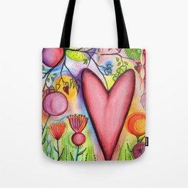 Many Hearts Heal Tote Bag