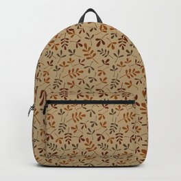 Fall Color Assorted Leaf Silhouette Pattern Backpack