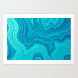 Turquoise Abstract Art Print