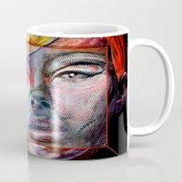 mirror Mugs featuring mirror by Irmak Akcadogan