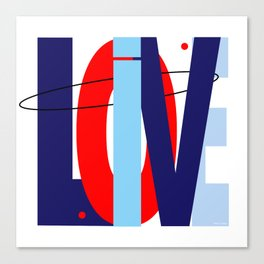 LOVE LIVE LOVE Canvas Print