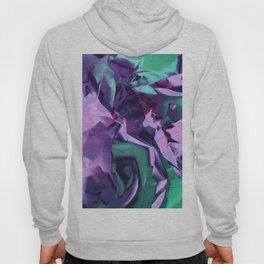 Restless Unicorn. Dynamic Purple and Teal Abstract. Hoody