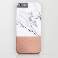 Marble Rose Gold Luxury iPhone Case and Throw Pillow Design iPhone 6s Slim Case