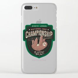National Nap Championship Clear iPhone Case