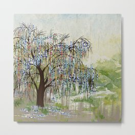 Willow Tree Abstract digital art  composition Metal Print
