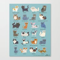 cats Canvas Prints featuring Cats! by DoggieDrawings