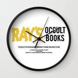 Ray's Occult Books Ghostbusters tribute Wall Clock