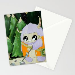 yeti of the night Stationery Cards