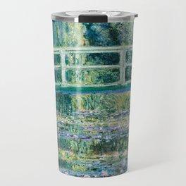 1899-Claude Monet-Water Lilies and Japanese Bridge Travel Mug