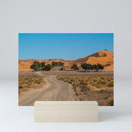 Road to the desert   Morocco travel photography Mini Art Print