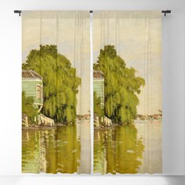 Claude Monet - Houses on the Achterzaan Blackout Curtain