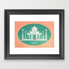 Taj Mahal is Love Framed Art Print
