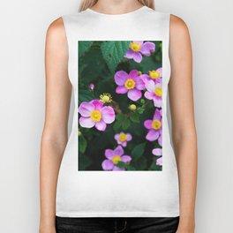 flowers c Biker Tank