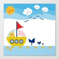 Sailing Cat Canvas Print