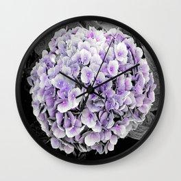 Flower | Flowers | BNW Purple Hydrangea Wall Clock