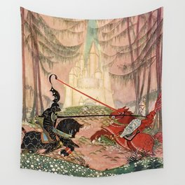 """""""A Knightly Joust"""" by Thomas Mackenzie Wall Tapestry"""