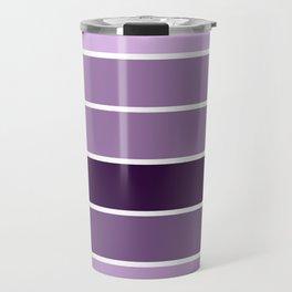 Lavender Purple Stripes Travel Mug