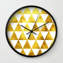 Gold Triangles Wall Clock