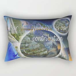 Our imagination skills Rectangular Pillow