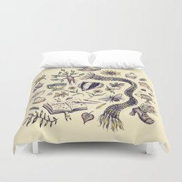 Hufflepuff, Loyal and True Duvet Cover