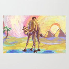 Animal Parade Camel Rug